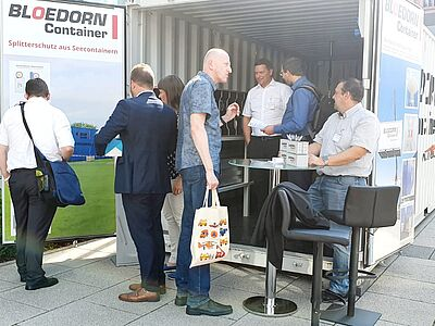 Bloedorn Rüstcontainer als Messestand